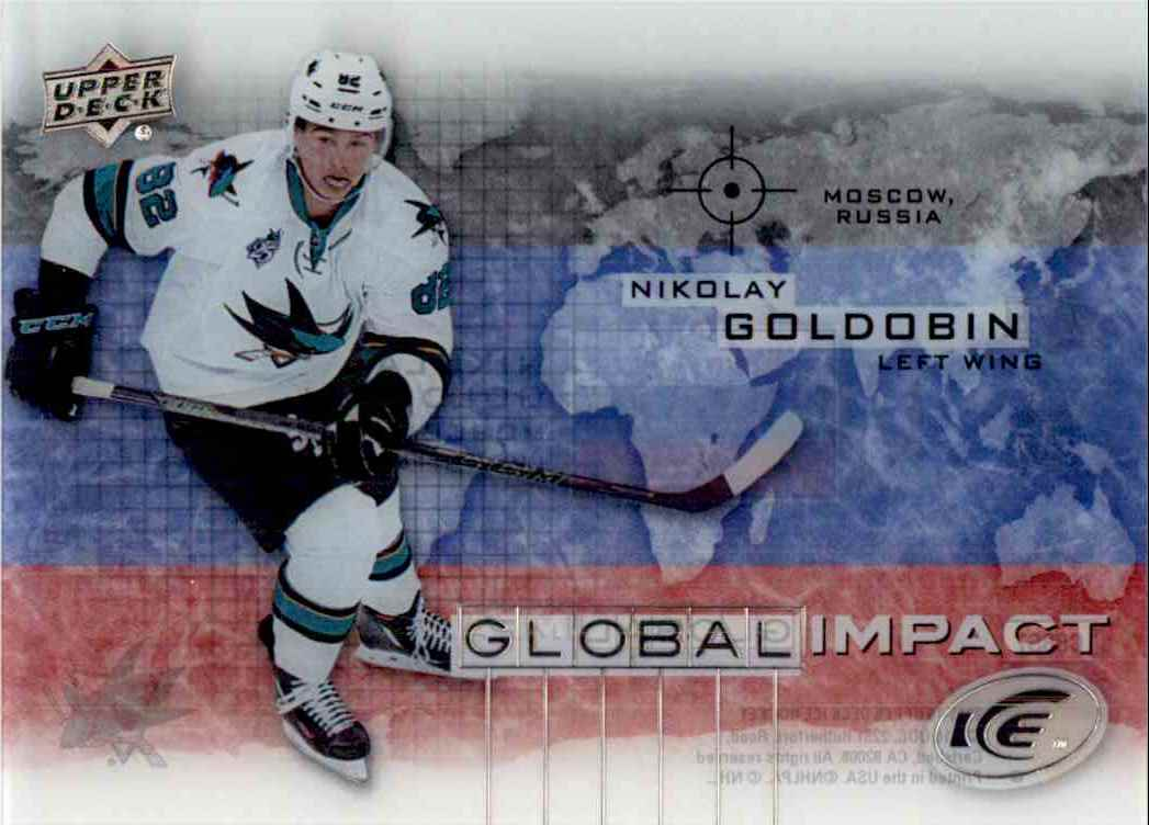 2015-16 Upper Deck Ice Global Impact Nikolay Goldobin #GI-NG card front image