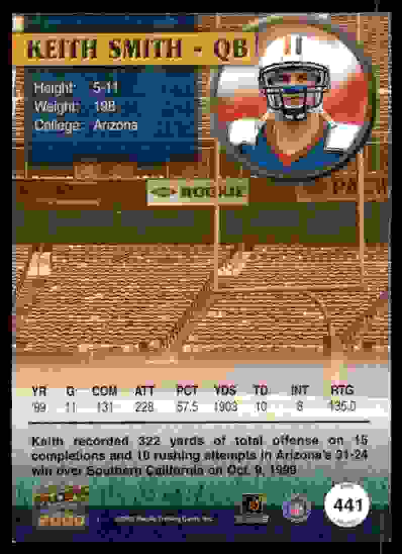 2000 Pacific Keith Smith #441 card back image