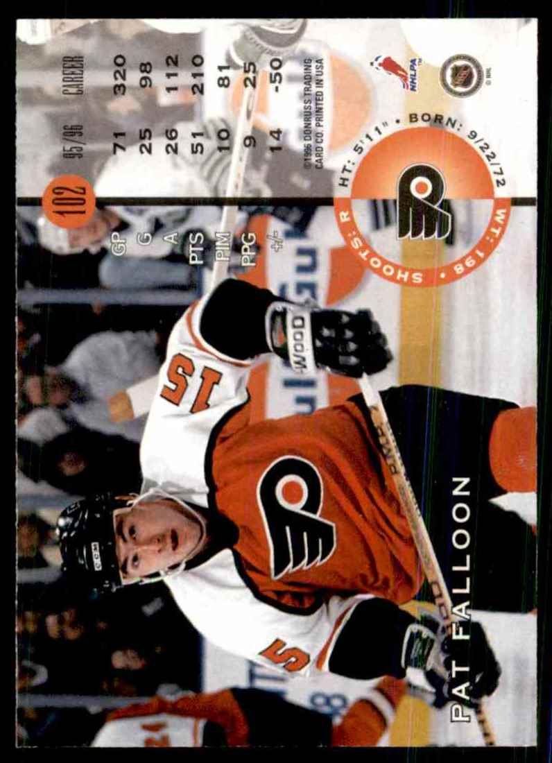 1996-97 Leaf Pat Falloon #102 card back image