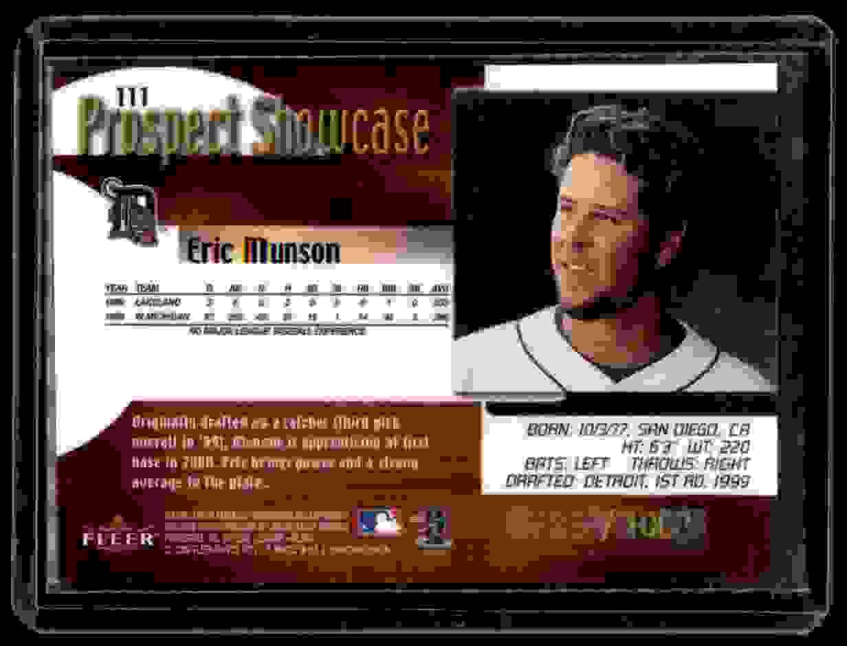 2000 Fleer Showcase Eric Munson #111 card back image