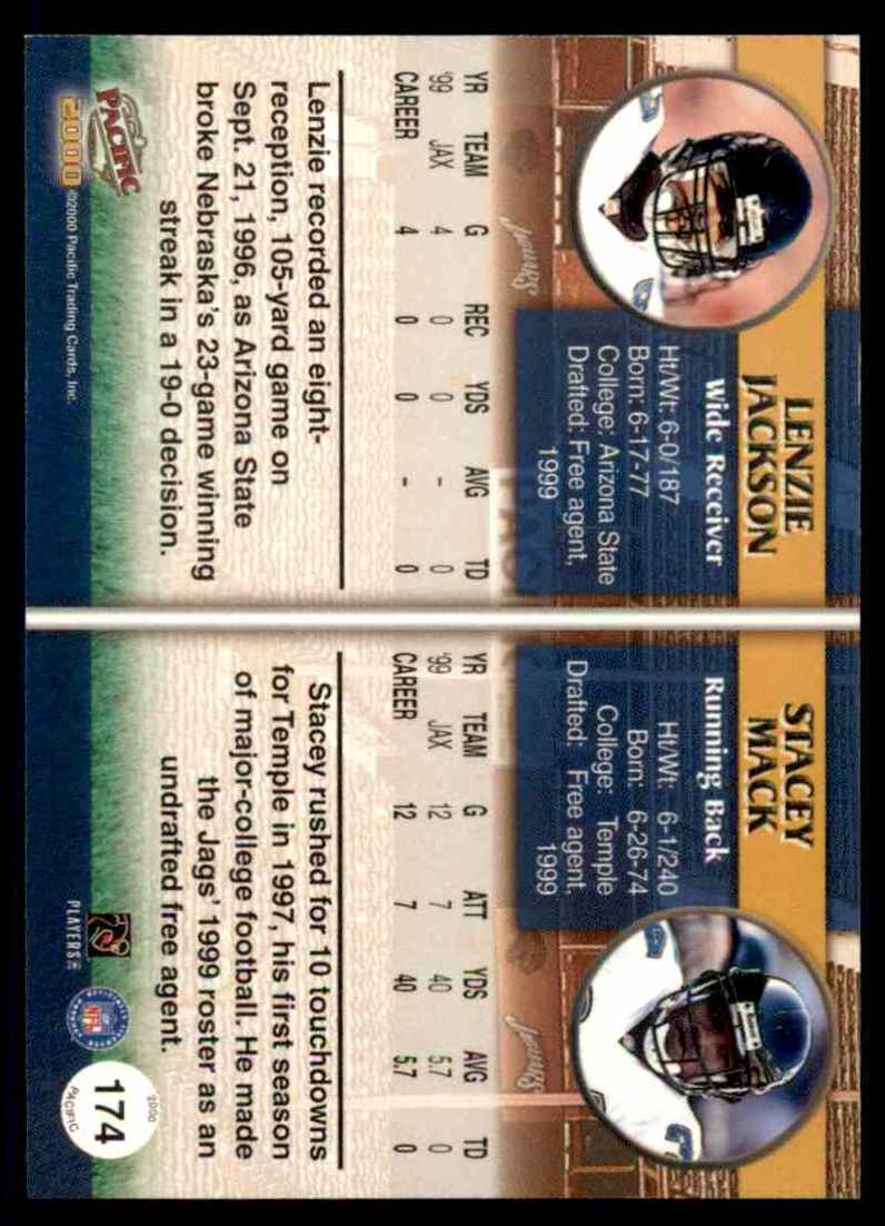 2000 Pacific Lenzie Jackson Stacey Mack #174 card back image