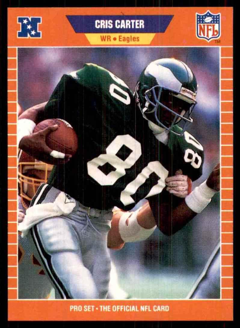 1989 Pro Set Cris Carter RC #314 card front image