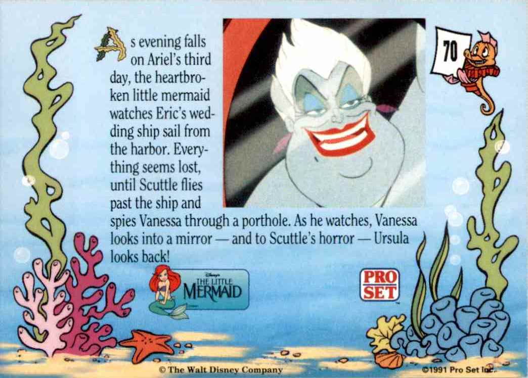 1991 Little Mermaid As Evening Falls On Ariel's Third Day #70 card back image