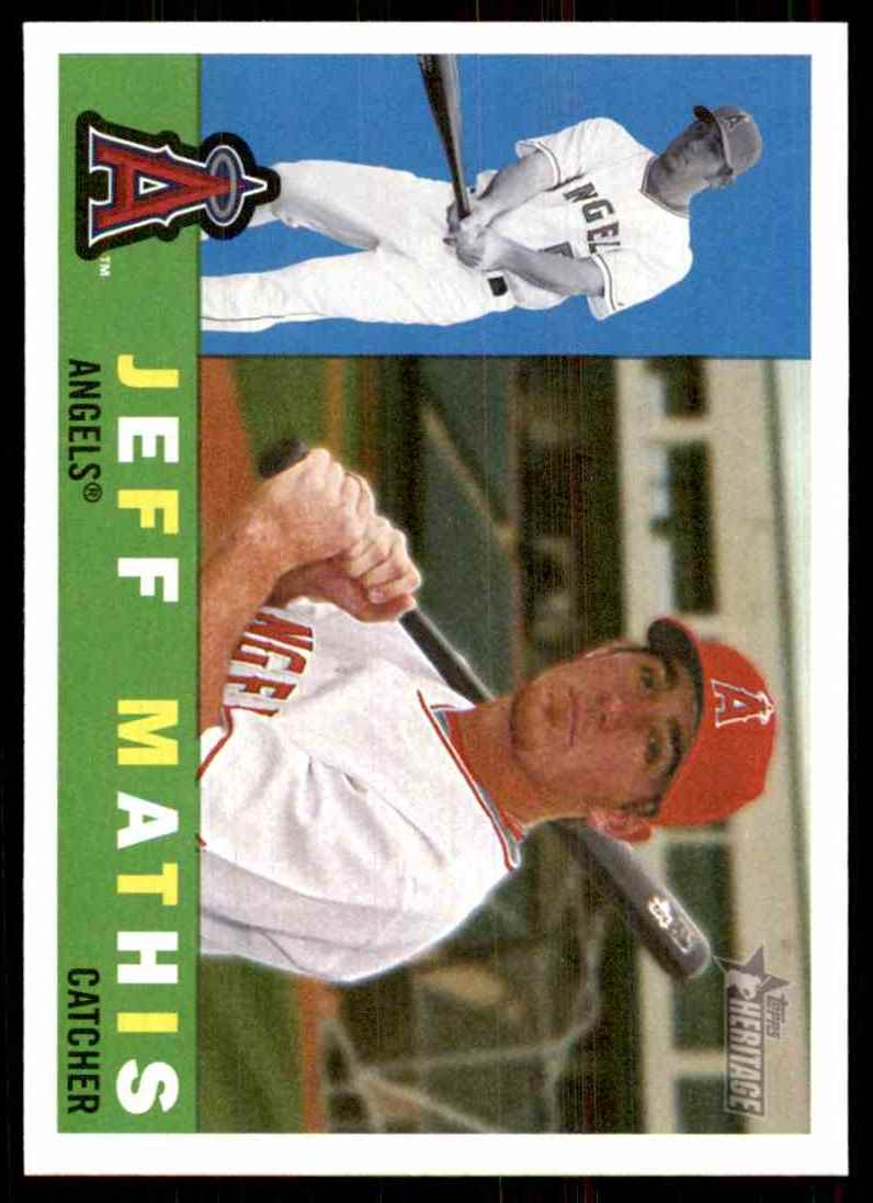 2009 Topps Heritage Jeff Mathis #167 card front image