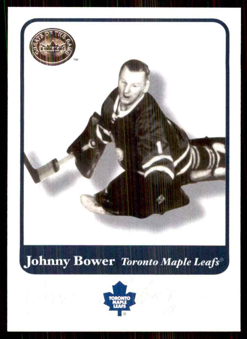 2001-02 Fleer Greats Of The Game Johnny Bower #14 card front image