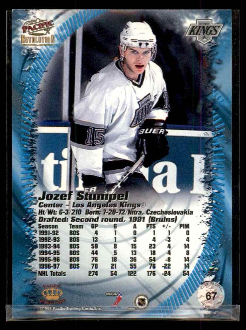 1997-98 Revolution Copper Jozef Stumpel #67 card back image