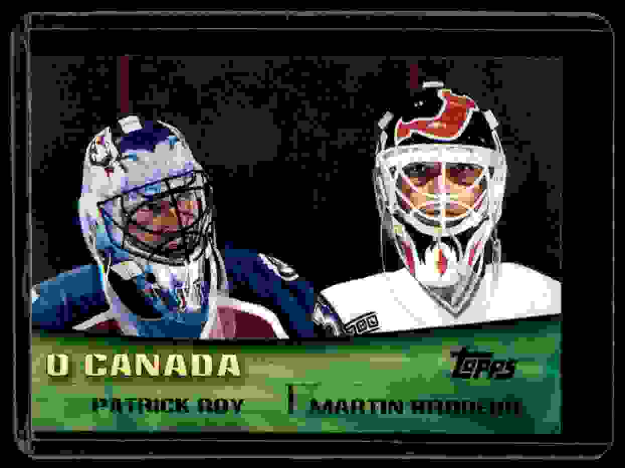 2000-01 Topps Combos Patrick Roy Martin Brodeur #TC8 card front image