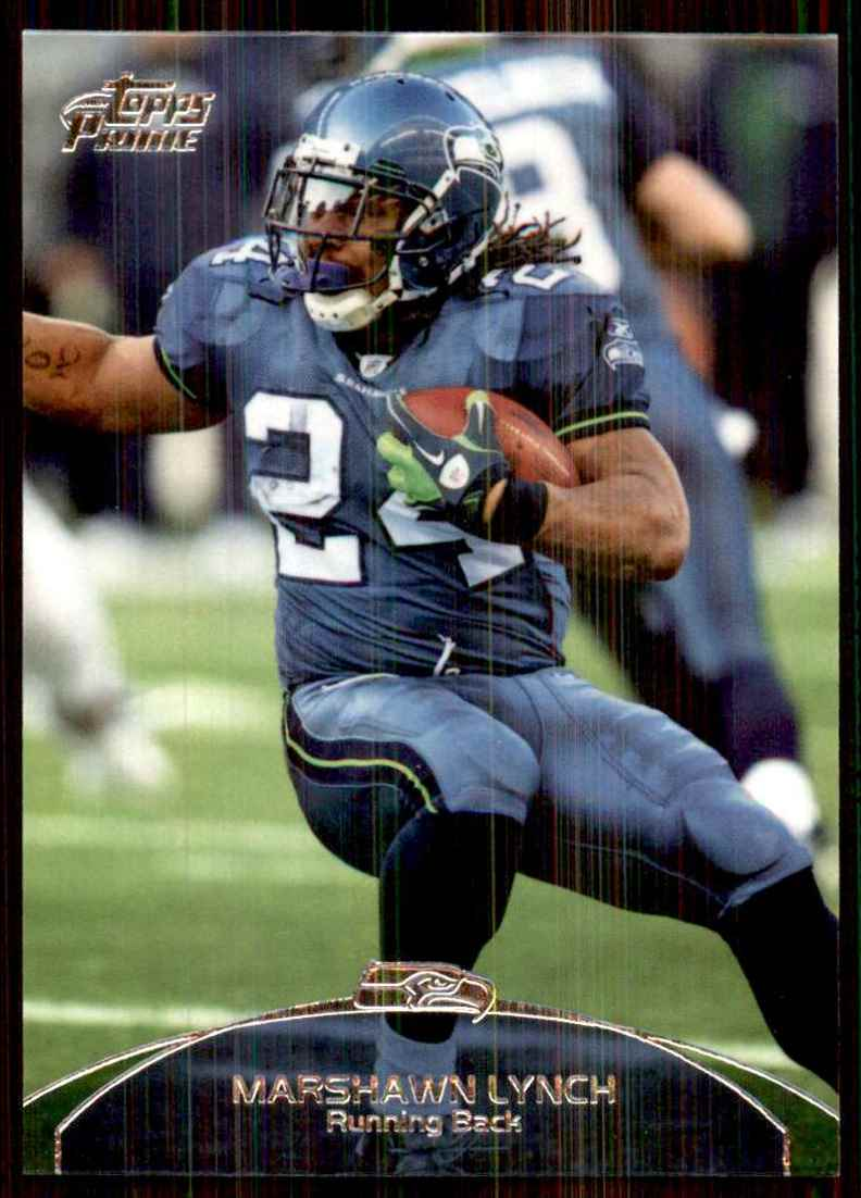 2011 Topps Prime Marshawn Lynch #65 card front image