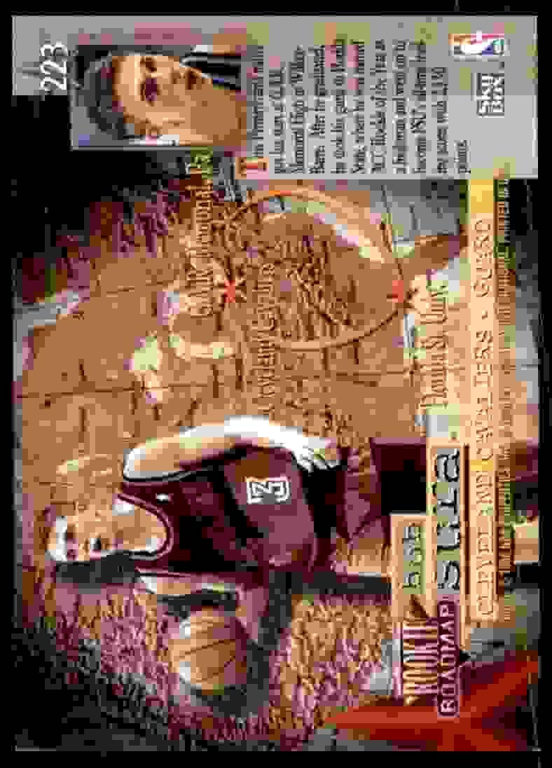 1995-96 Skybox Premium Bob Sura RC #223 card back image