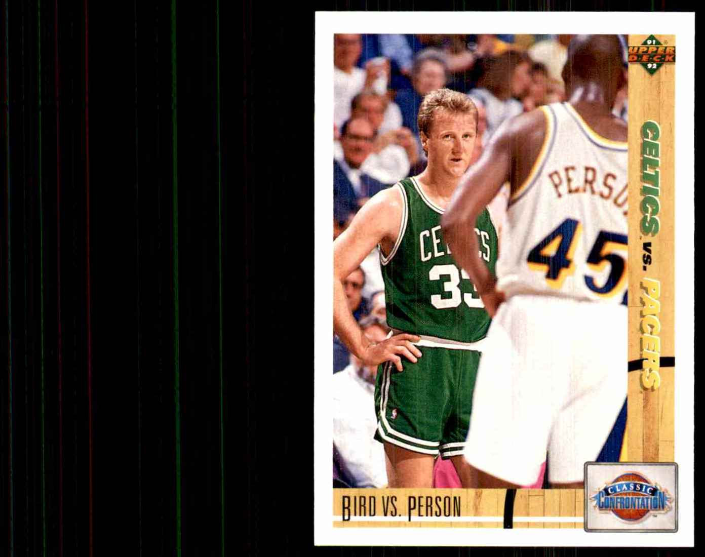 1991-92 Upper Deck Larry Bird CC/Chuck Person #30 card front image
