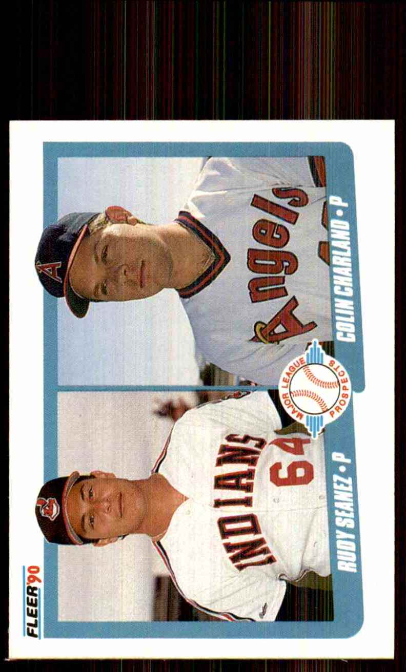 1990 Fleer Rudy Seanez RC/Colin Charland RC #640 card front image