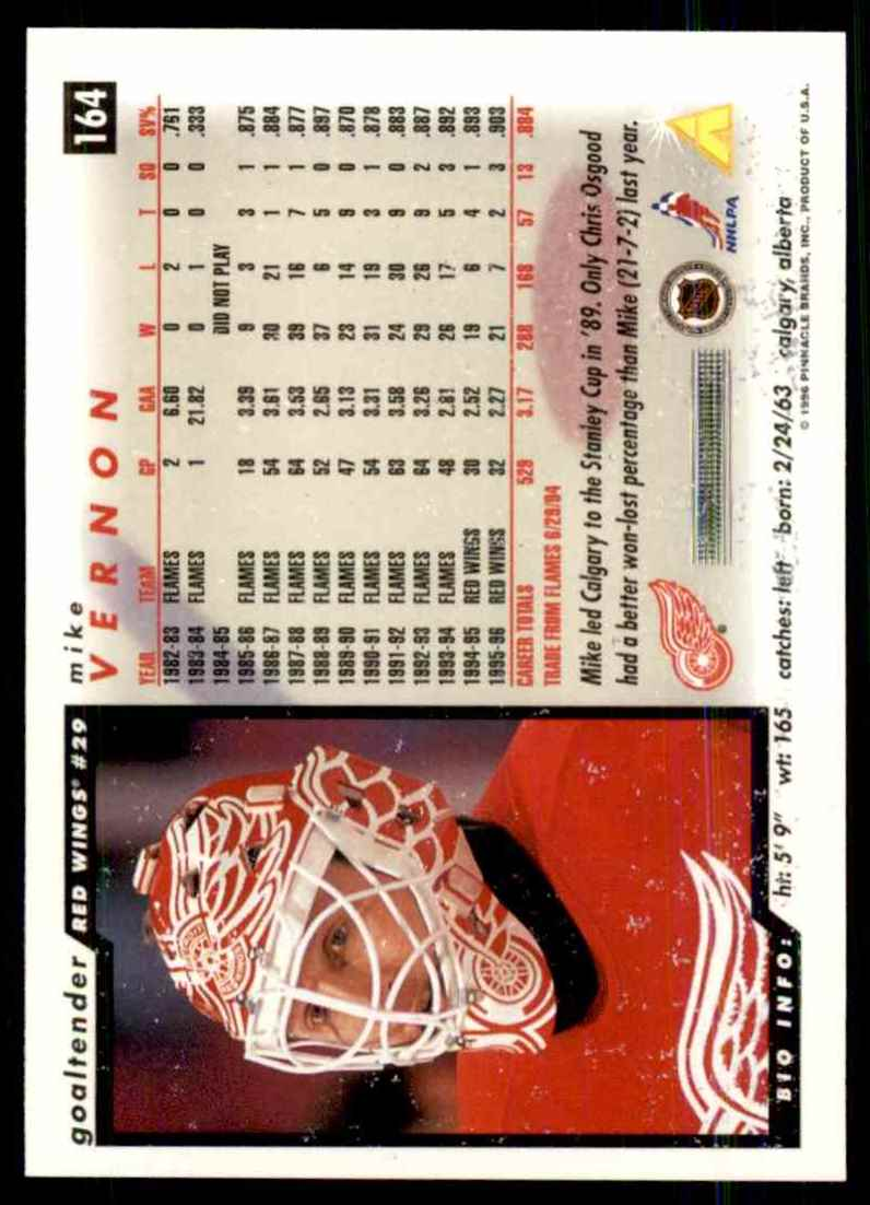 1996-97 Score Mike Vernon #164 card back image