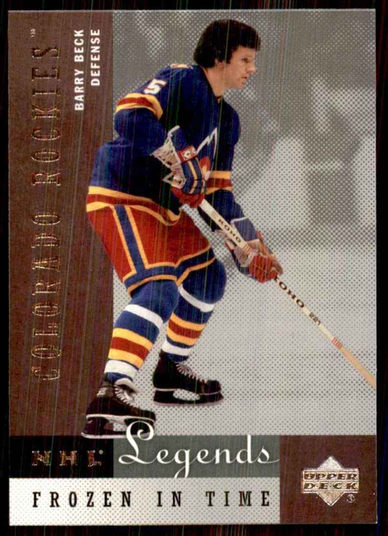 2001-02 Upper Deck Legends Barry Beck #73 card front image