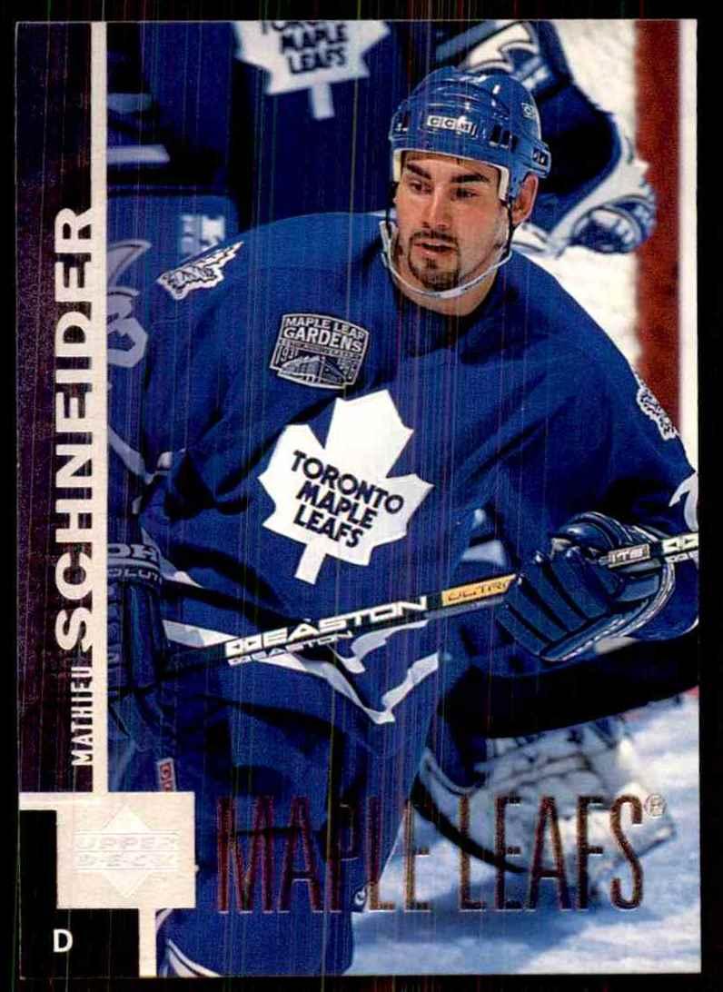 1997-98 Upper Deck Mathieu Schneider #372 card front image
