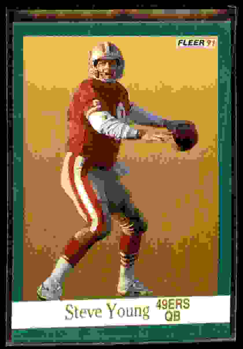 1991 Fleer Steve Young #367 card front image
