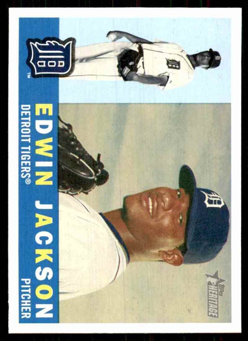 2009 Topps Heritage Edwin Jackson #68 card front image