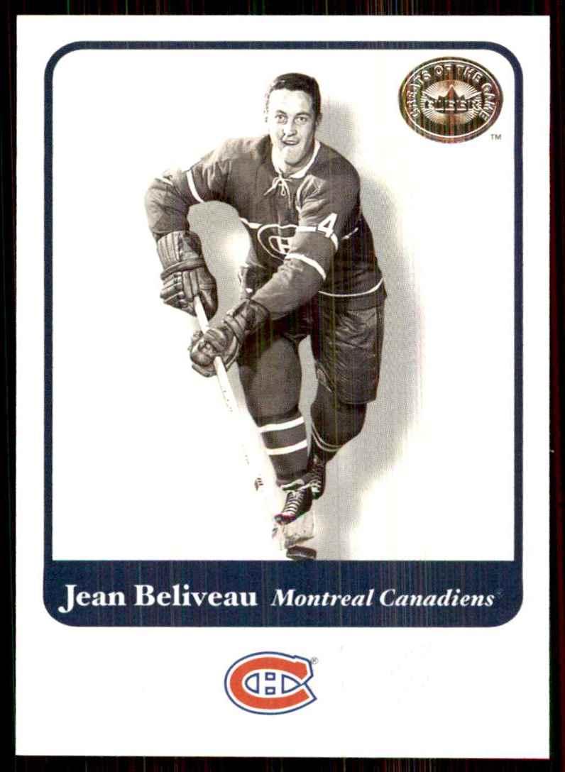2001-02 Fleer Greats Of The Game Jean Beliveau #3 card front image