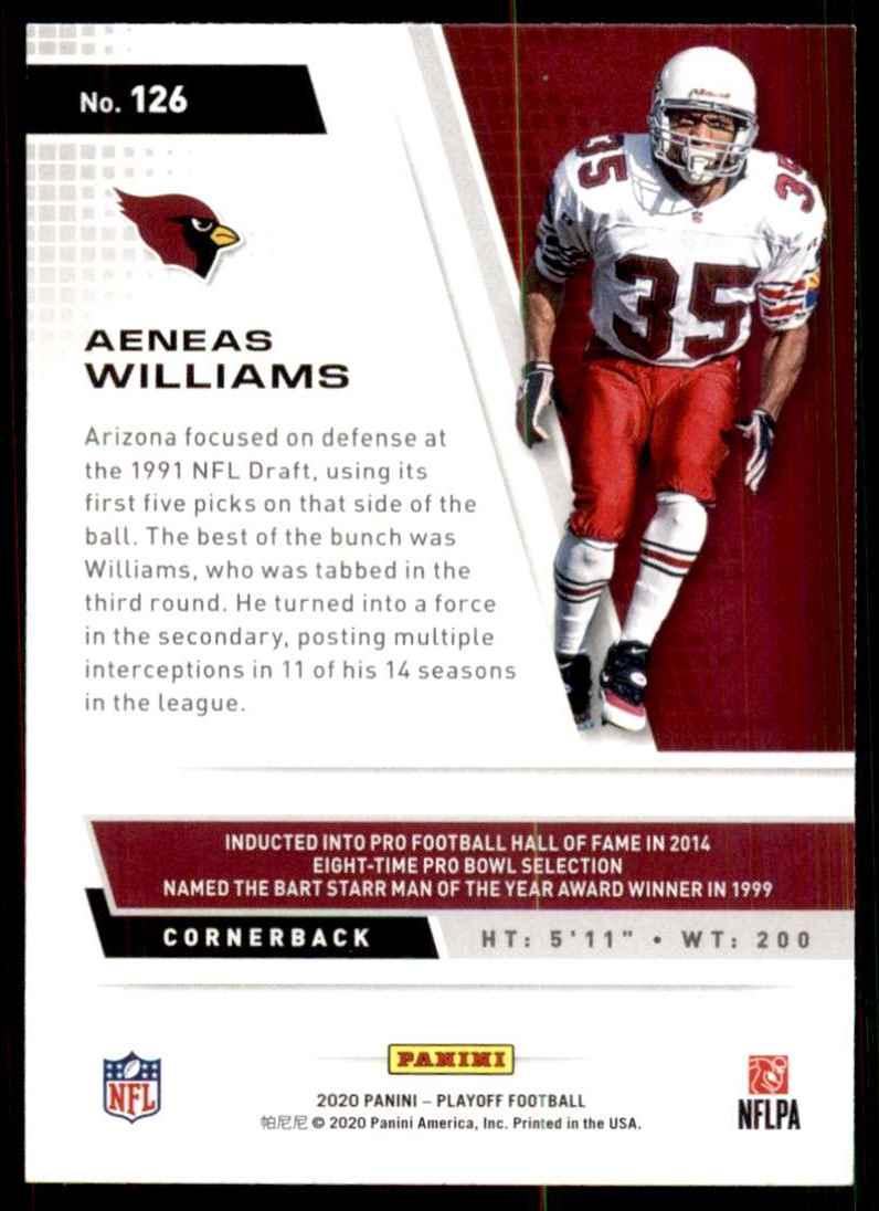 2020 Playoff Aeneas Williams #126 card back image
