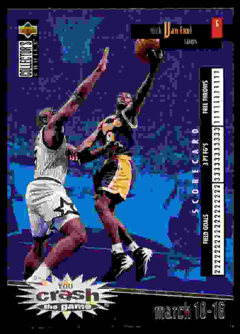 1996-97 Collector's Choice Crash The Game Nick Van Exel #C13 card front image
