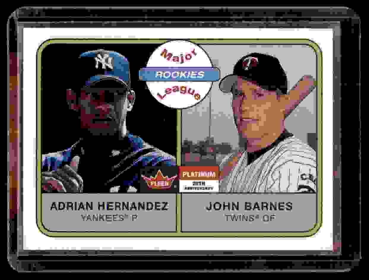 2001 Fleer Platinum Adrian Hernandez John Barnes #254 card front image