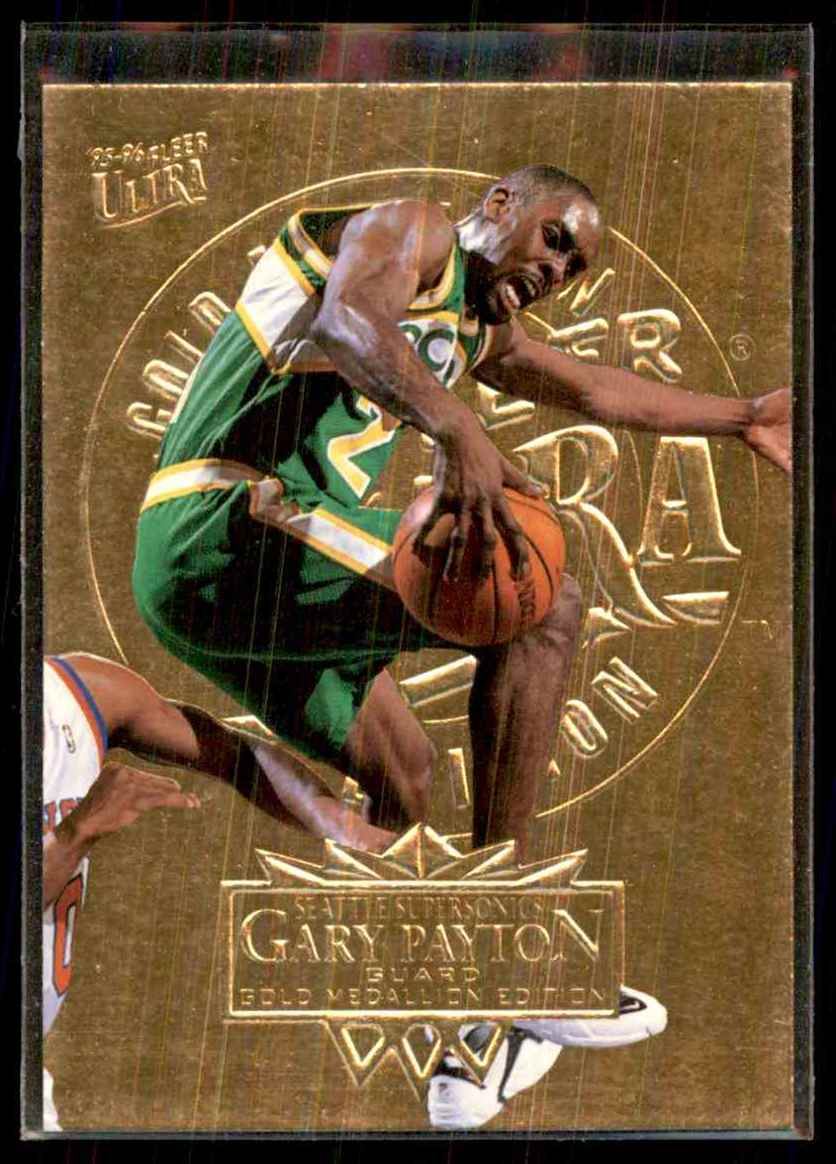 1995-96 Ultra Gold Medallion Gary Payton #174 card front image