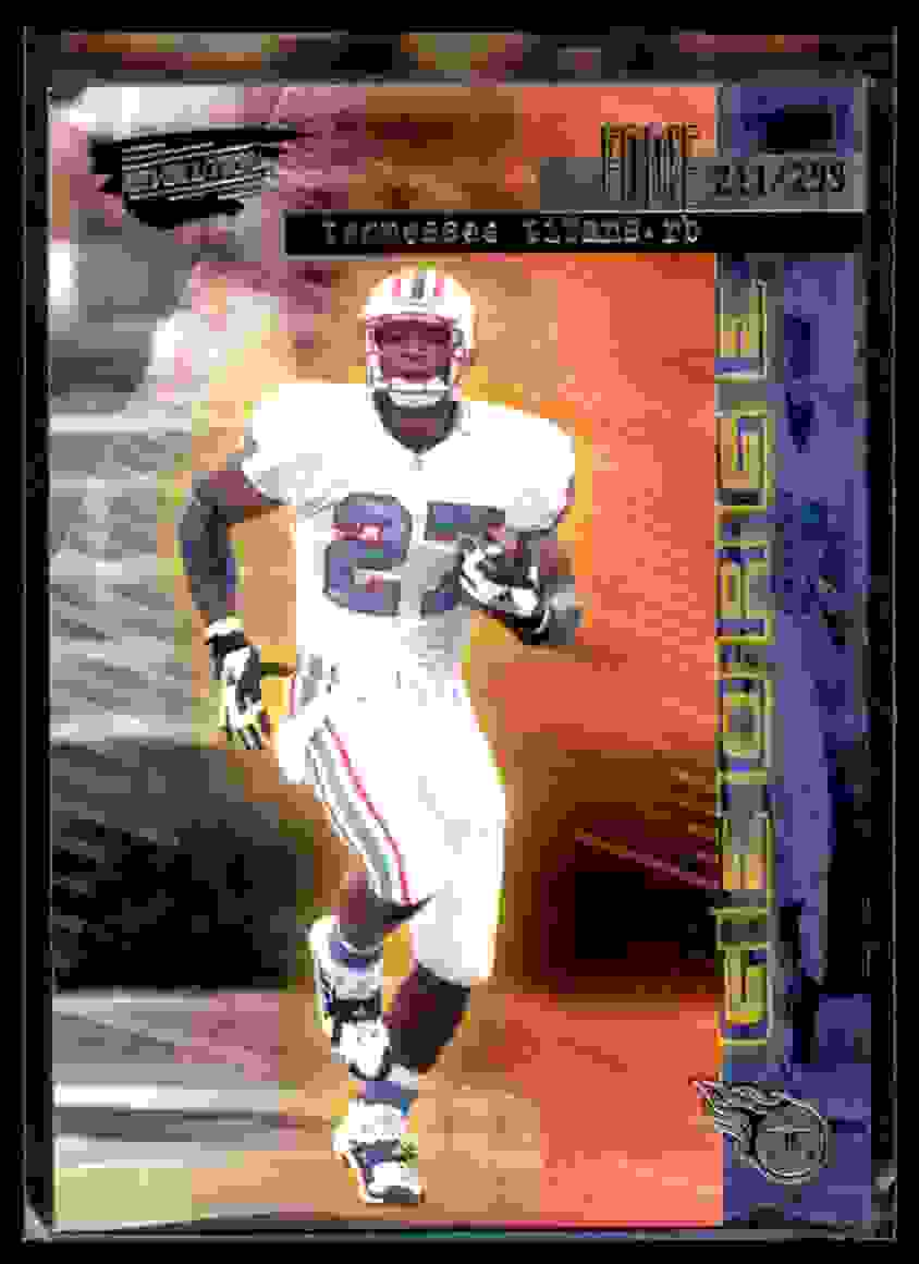 1999 Pacific Revolution Three-Deep Zone Silver Eddie George #24 card front image