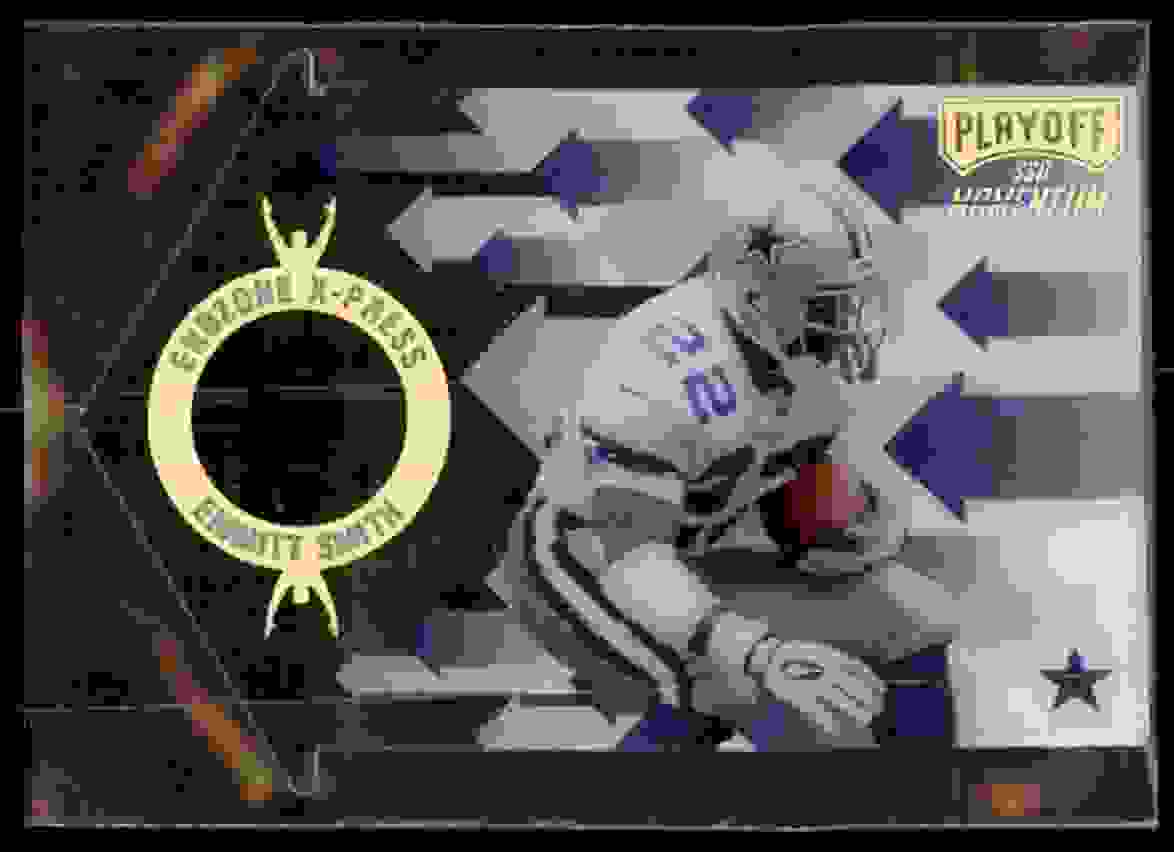 1998 Playoff Momentum Endzone X-Press Emmitt Smith #21 card front image