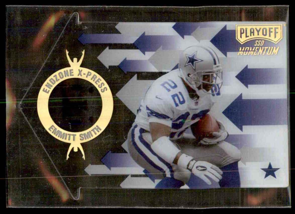 1998 Playoff Momentum Endzone X-Press Emmitt Smith #21 card front image