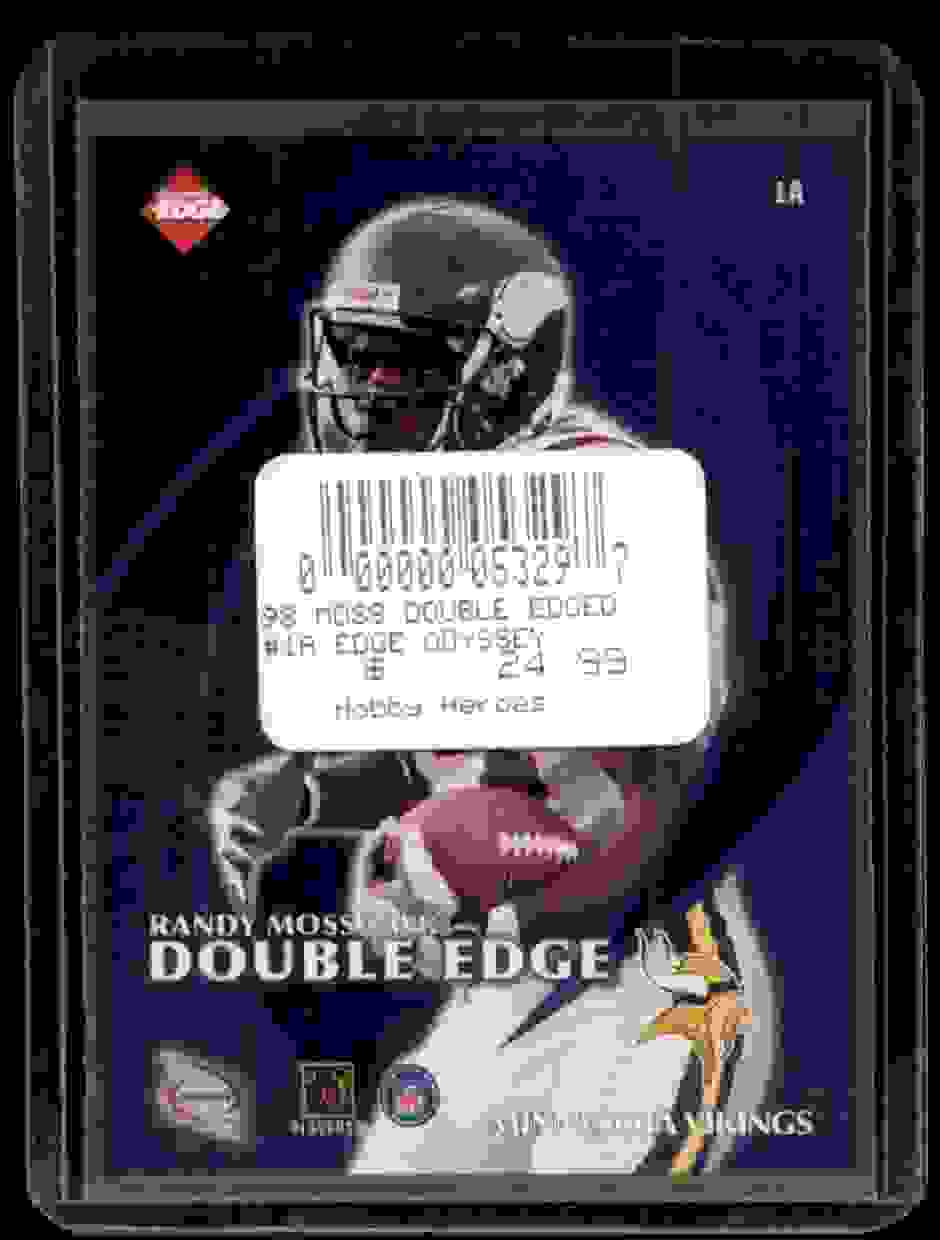 1998 Collector's Edge Odyssey Double Edge Jerry Rice Randy Moss #1A card back image