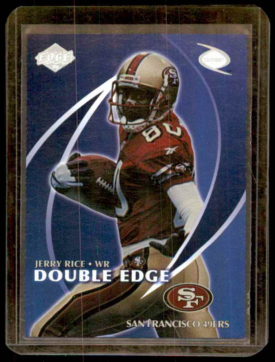 1998 Collector's Edge Odyssey Double Edge Jerry Rice Randy Moss #1A card front image
